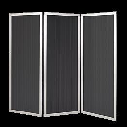 Paravent undurchsichtig L 210 cm (70 cm x 3) H 186 cm