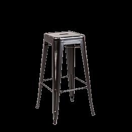 Barstuhl Industrial schwarz H 76 cm