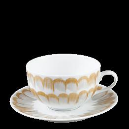 Kaffee-/Tee-Ober- & Untertasse Plumes 20 cl