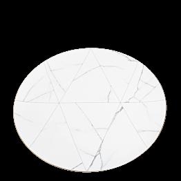 Platzteller Marbre mit Goldrand Ø 33 cm
