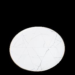 Menüteller Marbre mit Goldrand Ø 28 cm