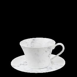 Espresso- Ober- & Untertasse Marbre 14 cl