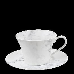 Kaffee-/Tee-Ober- & Untertasse Marbre 25 cl