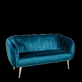 Sofa Juliette blau grün T 78 x B 165 cm H 85 cm