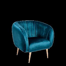 Sessel Juliette blau grün T 78 x B 84 cm H 85 cm