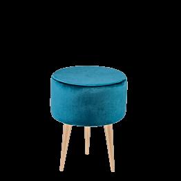 Sitzkissen Juliette blaugrün Ø 35 cm H 44 cm