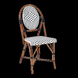 Stuhl bistro schwarz und weiss