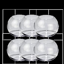6er-Pack Kugelförmige Vase Ø 12 cm H 9,5 cm