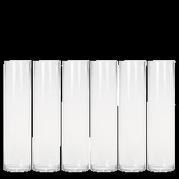 6er-Pack Zylinderförmige Vase Ø 10 cm H 40 cm