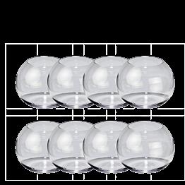 8er-Pack Kugelförmige Vase Ø 8,5 cm H 7,5 cm
