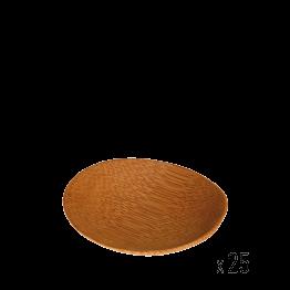 25er-Pack Bambusplättchen rund Ø 6 cm