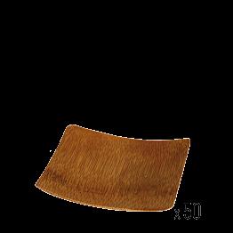 50er-Pack Bambusplättchen eckig 6 x 6 cm