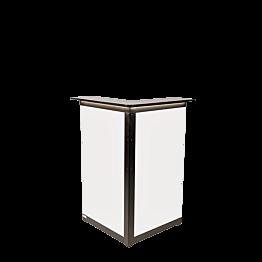 Bar Lenox klappbar beleuchtet weiss, Eckmodul 66 x 66 cm H 118 cm