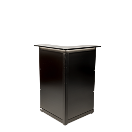 Bar Lenox klappbar beleuchtet schwarz, Eckmodul 66 x 66 cm H118cm