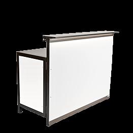 Bar Lenox klappbar beleuchtet weiss, gerades Modul 66 x 150 cm