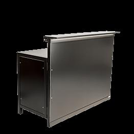 Bar Lenox klappbar beleuchtet schwarz, gerades Modul 66 x 150 cm