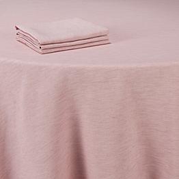 Tischtücher Leinen rosa