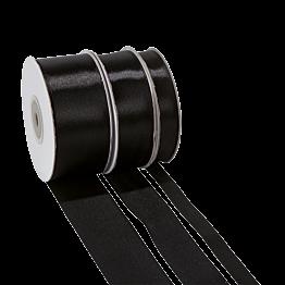 Satinband schwarz
