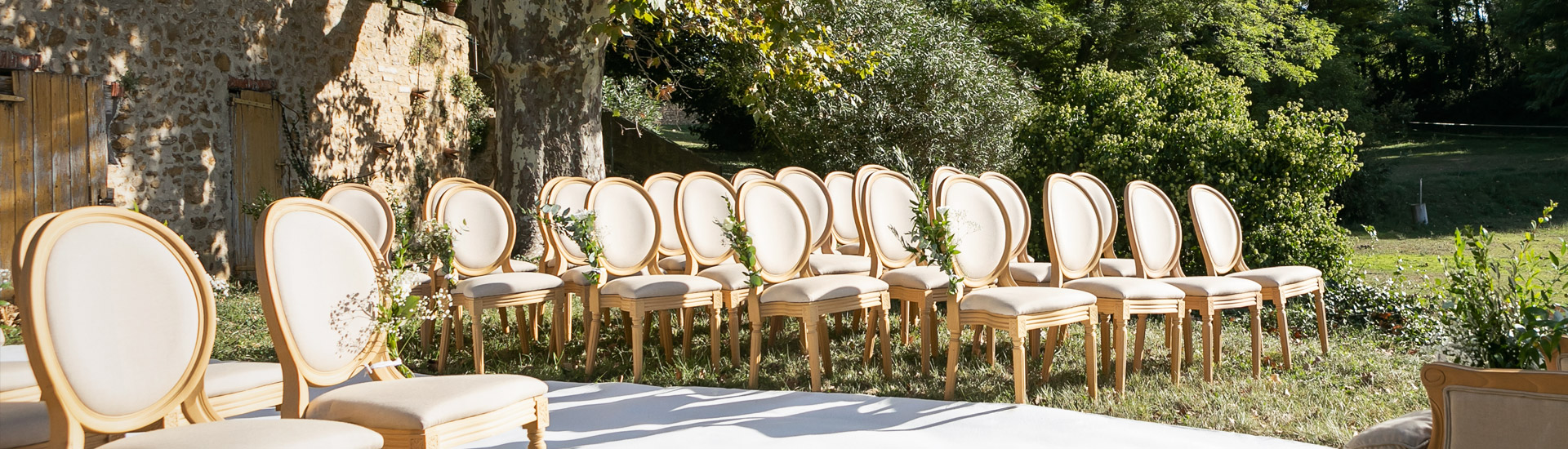 chaises médaillon